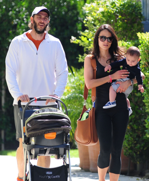 Jordana Brewster Strolls With Julian