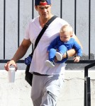 Exclusive... Josh Duhamel Spends The Day With Son Axl