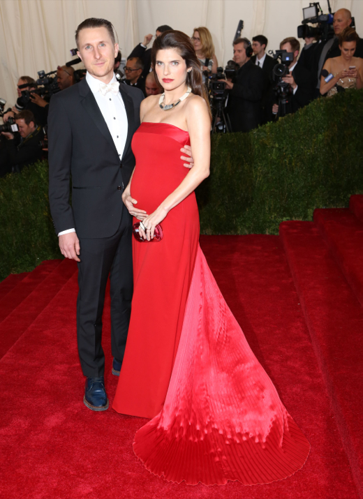 Lake Bell Shows Off Growing Bump at the Costume Institute Gala