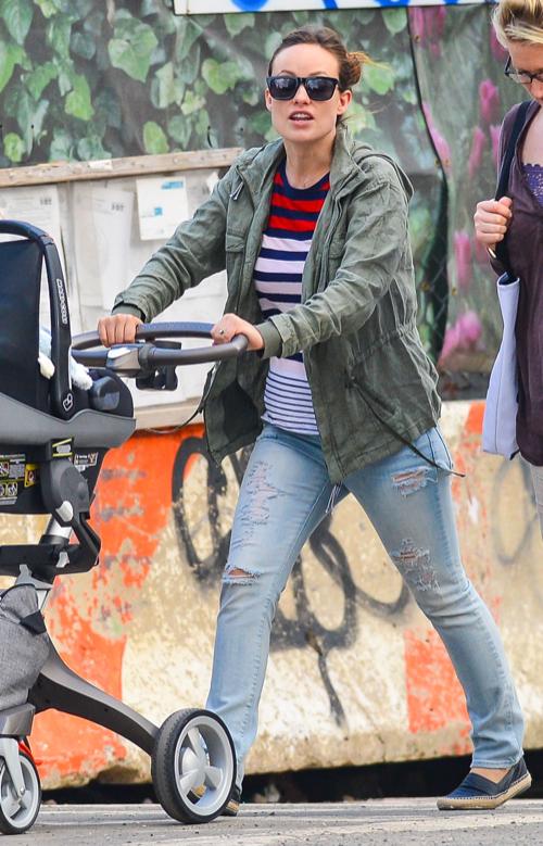 Olivia Wilde Strolls With Otis in the Big Apple