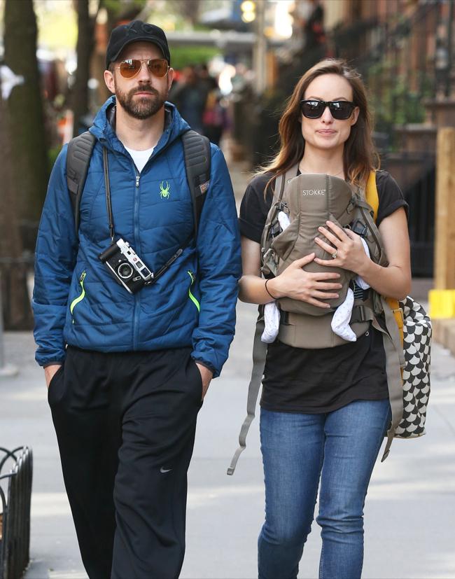 Olivia Wilde & Jason Sudeikis Take Newborn Son on First Stroll