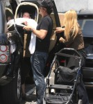 Rachel Zoe & Family Out For Lunch At Hugo's