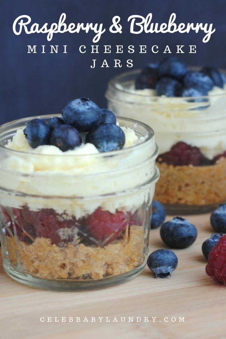 Raspberry & Blueberry Mini Cheesecake Jars | Celeb Baby Laundry