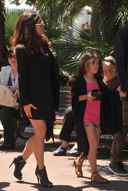 Salma Hayek & Family Enjoy a Day in Cannes