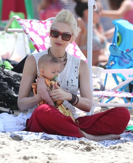 Gwen Stefani & Family Hit The Beach In Malibu