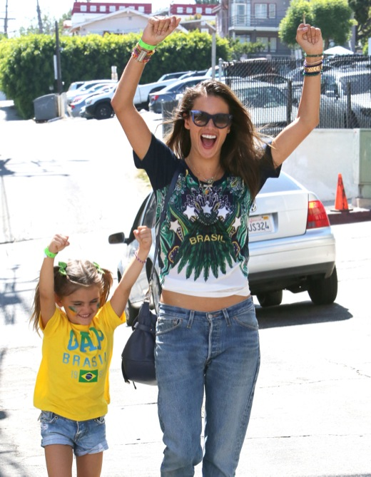 Alessandra Ambrosio Has World Cup Fever!