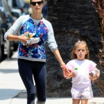 Alessandra Ambrosio Runs Errands With Anja