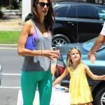 Alessandra Ambrosio Stops By Anja's Lemonade Stand