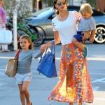 Alessandra Ambrosio: Frozen Yogurt Day With Her Little Ones