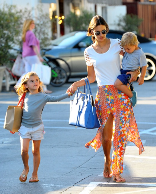 Alessandra Ambrosio Takes Her Kids Out For A Frozen Treat