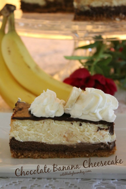 Chocolate Banana Cheesecake #CheesecakeoftheYear