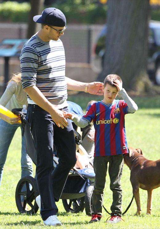 Tom Brady & Family Spend Father's Day At The Park