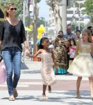Heidi Klum Takes Her Daughters Shopping