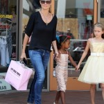 Heidi Klum Spends The Day With Her Princesses