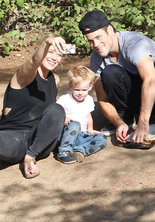 Exclusive... Hilary Duff & Family Enjoy A Day At The Park