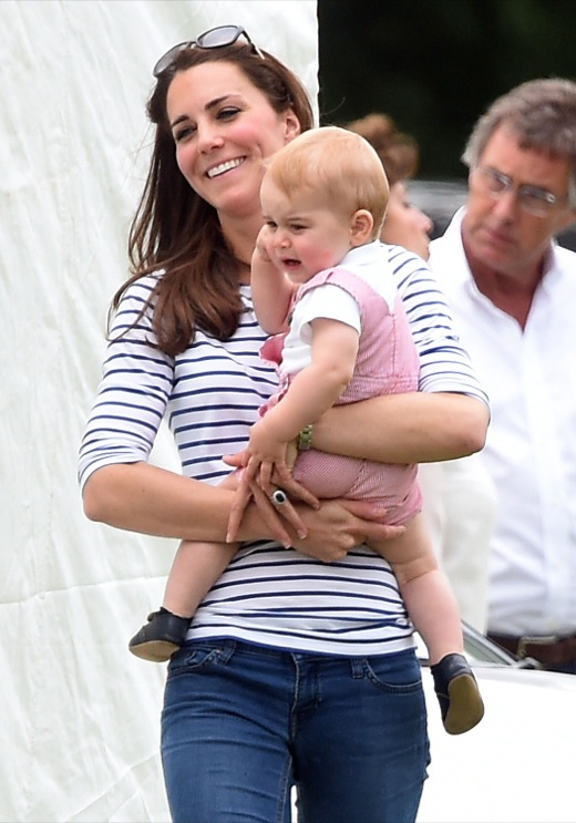 Kate Middleton & Baby George Cheer on Prince William at Polo Match