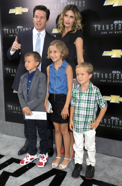 Mark Wahlberg Takes His Family to the Transformers: Age Of Extinction Premiere