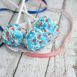 Patriotic Marshmallow Pops - July 4th