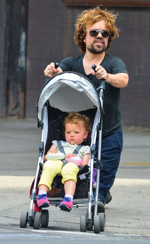 Peter Dinklage Strolls With His Little Girl