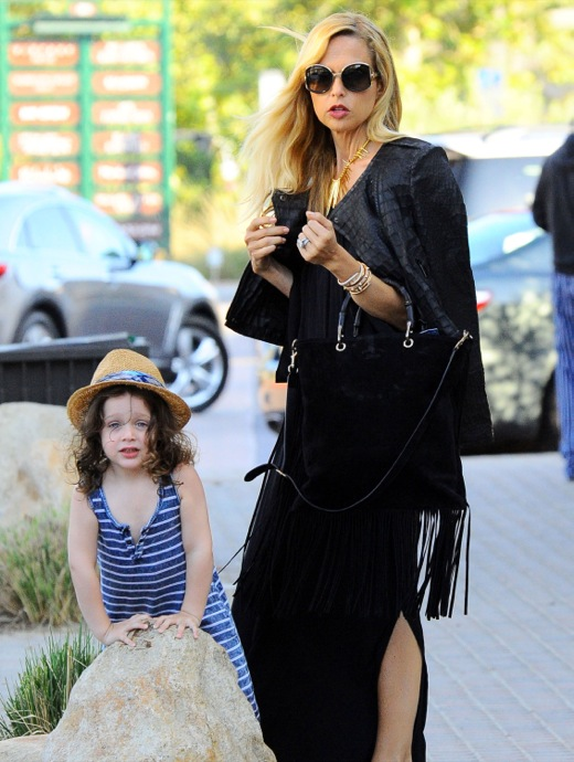 Rachel Zoe & Family Out For Dinner In Malibu