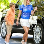 Reese Witherspoon & Deacon Head to a Sunday Party