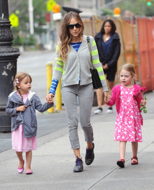 Sarah Jessica Parker Takes A Walk With Her Kids