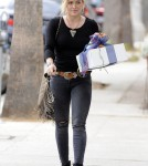 Hilary Duff Going To A Birthday Party