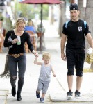 Hilary Duff & Family Attend A Party