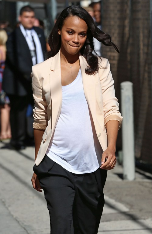 Zoe Saldana is 3 Months Pregnant With Her First Child