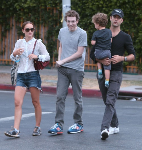 Natalie Portman and Benjamin Millepied Take Their Son Aleph Out For A Family Lunch