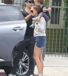 Semi-Exclusive... Natalie Portman & Family Out And About In Los Feliz