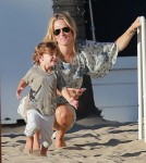 Exclusive... Molly Sims & Sarah Michelle Gellar Take Their Kids To A Party