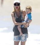 Not So Broke Tori Spelling & Family Enjoy The Beach In Malibu