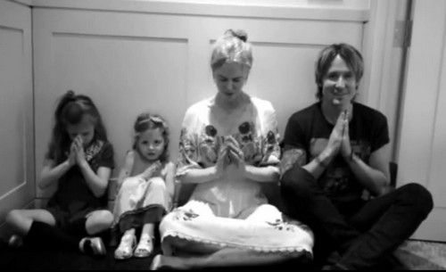 "Keith Urban and Nicole Kidman Allow Their Daughters Sunday and Faith To Join Them In Supporting Reba McEntire's ""Pray For Peace"" Campaign"