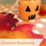 Fall Halloween Craft: Pumpkin Votive Holder