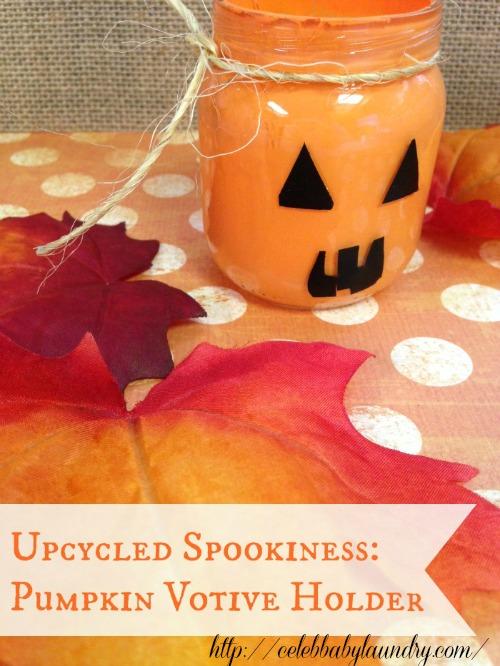 Fall Halloween Craft: Pumpkin Votive Holder
