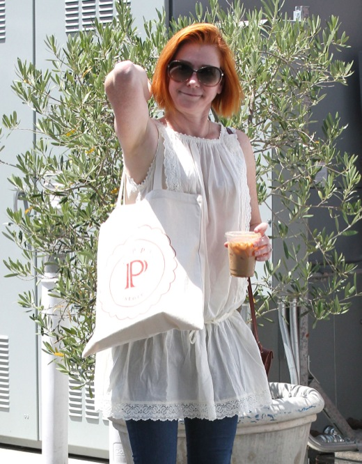 Alyson Hannigan Enjoys Breakfast With Her Family