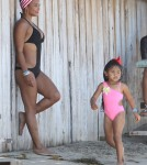 Christina Milian & Her Daughter Spend The Day At The Beach