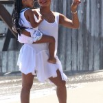 Christina Milian & Violet Soak Up The Sun