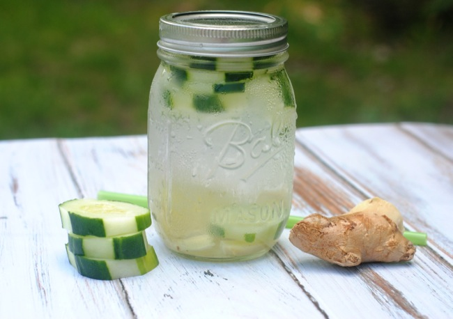 Cucumber Ginger Infused Water