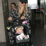 Fergie & Family Touch Down at LAX