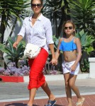 Exclusive... Jessica Alba & Honor Out And About In Santa Barbara