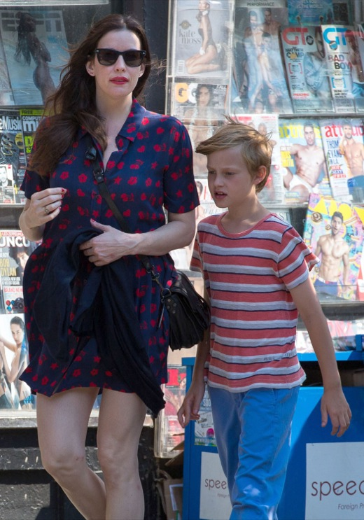 Liv Tyler & her Son Out & About
