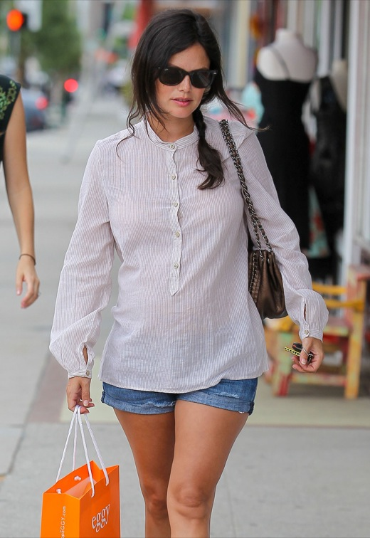 Rachel Bilson Goes Shopping For Her Future Baby