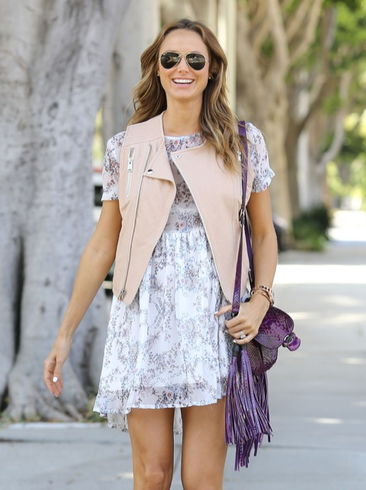 Pregnant Stacy Keibler Is All Smiles In Santa Monica
