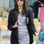 Zoe Saldana Debuts Bump. Has Yet to Confirm Pregnancy.