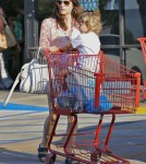Exclusive... Selma Blair & Son Pick Up Some Groceries
