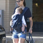 Jordana Brewster Shopping With Her 10-Month Old Julian in NYC (Photos)