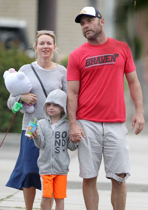 Naomi Watts Looks Radiant During Brentwood Outing With Liev Schreiber and Their Children (Photos)