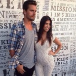 Pregnant Kourtney Kardashian Wows In White Lace Jumpsuit At Charity Event